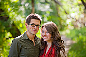 'Portrait Of A Newlywed Couple In A Park; Edmonton, Alberta, Canada'
