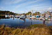 'The Marina In A Quaint Fishing Village; Ucluelet, British Columbia, Canada'