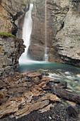 Upper Falls, Johnson Canyon, Banff National Park, Alberta, Canada