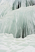 Beautiful Winter Ice Formations, Whistler, Bc, Canada