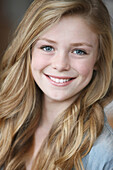 'Teenage Girl With Long Blond Hair And Blue Eyes; Troutdale, Oregon, United States of America'