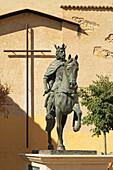 'Statue Of Alfonso Viii King Of Castile; Cuenca, Castile La Mancha, Spain'