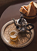 'Mint Tea Teapot And Arabic Bread; Tangiers, Morocco'