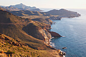 'Looking East Along The Unspoiled Coastline Of Cabo De Gata-Nijar Natural Park; Almeria Province, Spain'