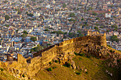 'High Angle View Of Amer Fort; Jaipur, Rajasthan, India'