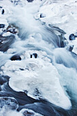 'Ice covered creek in columbia river gorge national scenic area;Oregon united states of america'