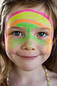 'Young girl with face painted;Gold coast queensland australia'