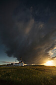'Storm cloud formation over a lighthouse at sunset;South shields tyne and wear england'