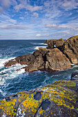 'The west coast of lewis boasts a superb array of dramatic cliffs and sea stacks and the occasional natural arch;Isle of lewis outer hebrides scotland'