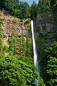 'The upper multnomah waterfall;Oregon united states of america'