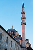 'Mosque of the valide sultan against a blue sky;Istanbul turkey'