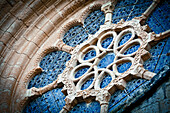 'Low angle view of architectural detail in the santes creus monastery part of the cistercian route;Tarragona catalonia spain'