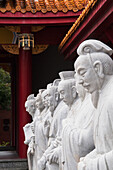 'Confucius statues at a shrine;Nagasaki japan'