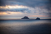 'The skellig islands viewed from bolus head;Iveragh peninsula, county kerry, ireland'