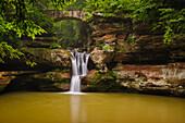 'Upper falls hocking hills state park;Ohio united states of america'