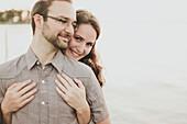 'Portrait Of A Couple; Crescent Beach, British Columbia, Canada'