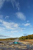 'Strokkur Geysir, Haukadalur Geothermal Area; Haukadalur, Arnessysla, South West Iceland, Iceland'