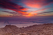 'The View From The Mercure Hotel At The Top Of Jebel Hafeet Mountain; Al Ain, Abu Dhabi, United Arab Emirates'