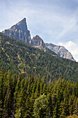 'Rugged Peaks Of The Rocky Mountains In Waterton Lakes National Park; Alberta, Canada'
