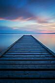 '6 minute exposure of an old dock, Queen Elizabeth Provincial Park; Alberta, Canada'