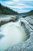 'The Trout River flows over whittaker Falls on this one minute exposure; Northwest Territories, Canada'