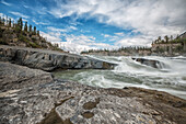 'The Sluice Box' above Virginia Falls, Nahanni National Park Reserve; Northwest Territories, Canada'