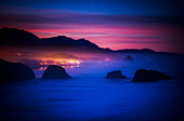 'A new day begins on the west coast; Cannon Beach, Oregon, United States of America'