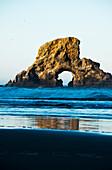'A large natural arch found at Ecola State Park; Cannon Beach, Oregon, United States of America'