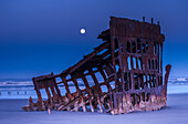 'The moon sets over the wreck of the Peter Iredale; Oregon, United States of America'