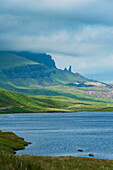 'Looking along road to the Old Man of Storr; Isle of Skye, Scotland'