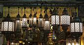 'Illuminated light fixtures; Istanbul, Turkey'