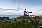 'Lighthouse on the atlantic coast; Calvert, Newfoundland and Labrador, Canada'