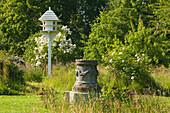 Dove Cote and Greek Altar, Orchard Garden, Sissinghurst Castle Gardens, Kent, Great Britain