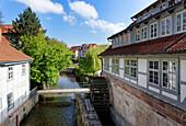 Loh mill on the Leine Canal, Goettingen, Lower Saxony, Germany