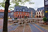 Market Square, Kaiserworth, Goslar, Lower Saxony, Germany