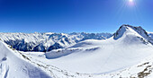 Zillertal Alps mountain panorama, Zwerchwand, Zillertal, Zillertal Alps, Tyrol, Austria