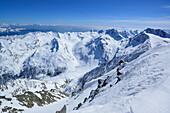 View over Pfelderer Tal with Texel group, Hinterer Seelenkogel, Obergurgl, Oetztal Alps, Tyrol, Austria