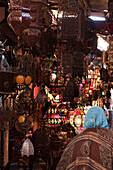 lamp shop in the souk, Marrakech, Morocco