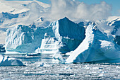 Icebergs and ice floes near Rothera Station, Rothera Point, Adelaide Island, Antarctica