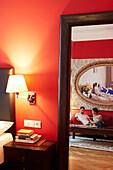 Altstadt Vienna Hotel, suite no. 15 with red couch, Kirchengasse 41, 7th district, Vienna, Austria