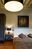 Room 'Bois' in Le Cor de Chasse, food hotel by Michelin starred gourmet chef Mario Elias, manor house built in 1681 in Durbuy, Rue des Combattants 16, Weris, Wallonia, Belgium