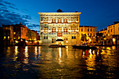 Casino di Venezia, Palazzo Vendramin Calergi, along Grand Canal at dusk, Venice, Veneto, Italy, Europe