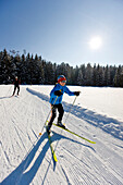 Child cross-country skiing, Styria, Austria