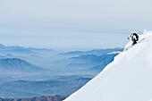 Skier jumping, Ski Arpa, Los Andes, Valparaiso Region, Chile