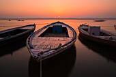 Boats on Gange river, Varanasi, India