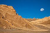 Set of landscapes of incomparable beauty resembling a fragment of the moon landscape in the Moon Valley in San Pedro de Atacama, Chile. This wonderful natural phenomenon is due to the encounter of the Atacama desert with the Andes mountain range.