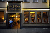 The popular Cologne, Germany pub Paffgen, where they brew and serve their Kolsch beer.