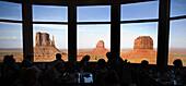 Guests dine among the panoramic views at the View Hotel at Monument Valley Navajo Tribal Park in southern Utah. The park, operated by the tribe, was once a popular set for western films of the 1930s through 60s. It is immensely popular among European tour