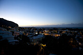 Night view of Saint Denis, capital prefecture, of Reunion Island. On August 1, 2010 the spectacular pitons, cirques and remparts of Reunion Island were inscribed in UNESCO's list of world heritage sites.