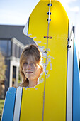 14 year old Tasmanian surfer girl Hannah Mighall, who was attacked by a great white shark in Jan' 09, Tasmania